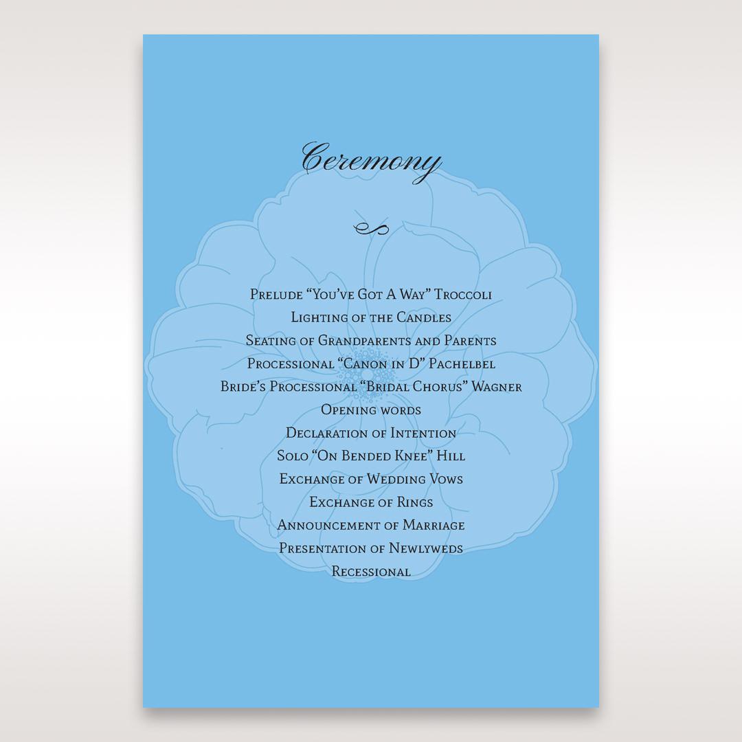 Blue Urban Flower Handcrafted - Order of Service - Wedding Stationery - 83