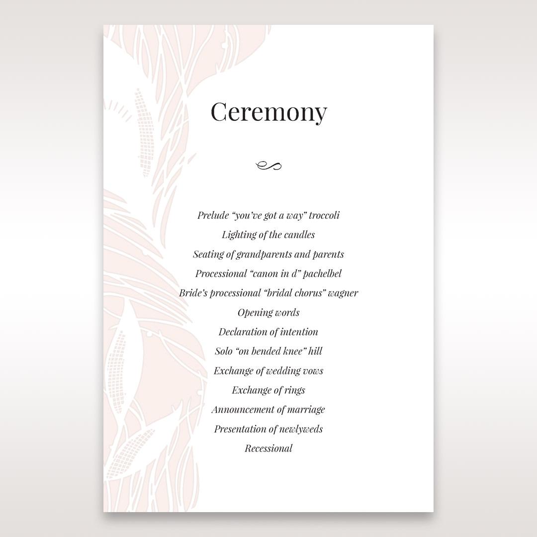 Orange Mystic Forest - Order of Service - Wedding Stationery - 44