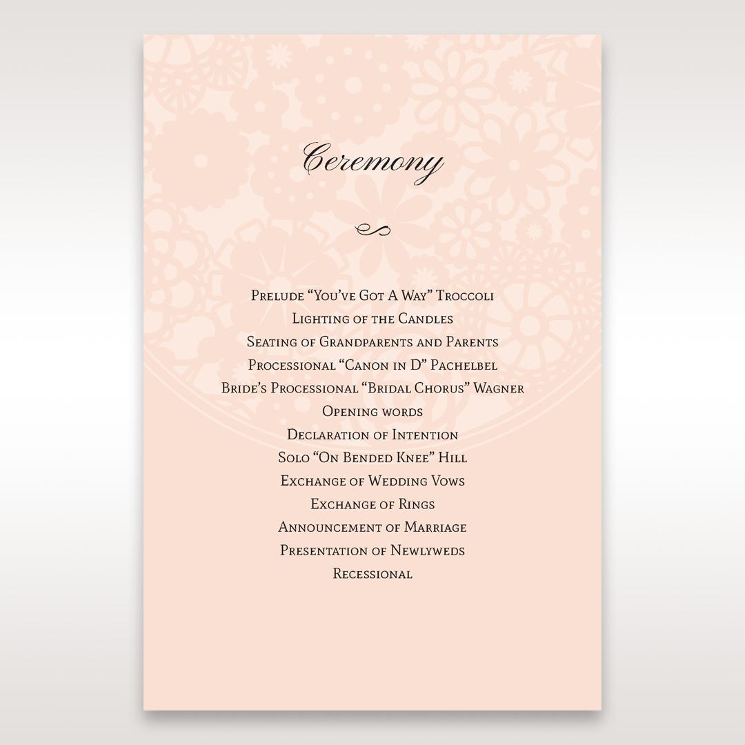 Orange Pink Light Romance - Order of Service - Wedding Stationery - 92