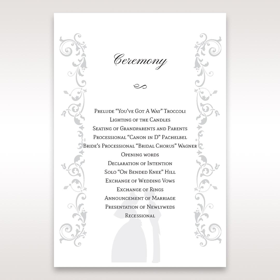 White Promise - Order of Service - Wedding Stationery - 93