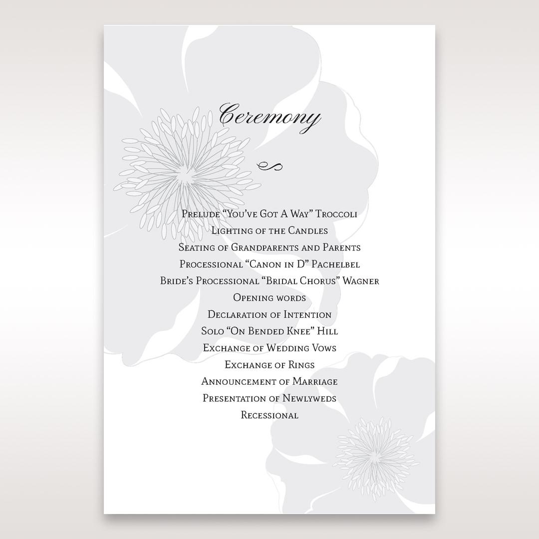White True Love - Order of Service - Wedding Stationery - 95