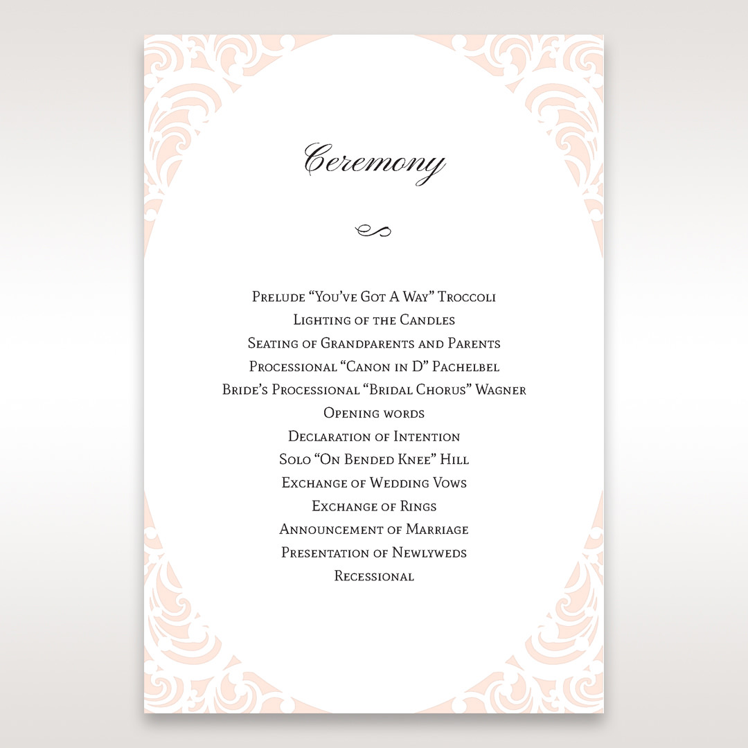 White Edge of Heaven - Order of Service - Wedding Stationery - 96