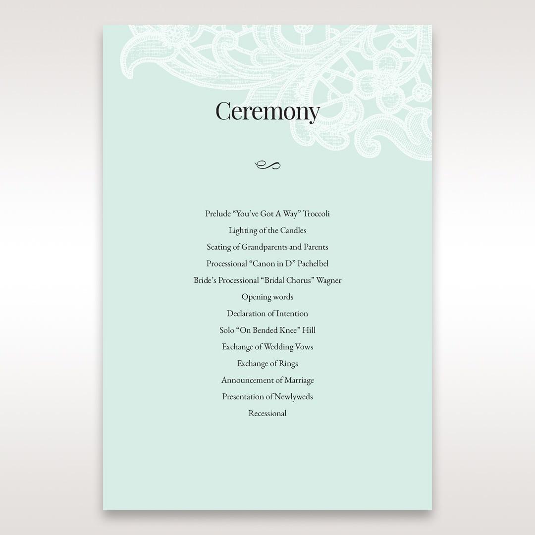 Blue Gatefold Floral Laser Cut - Order of Service - Wedding Stationery - 9