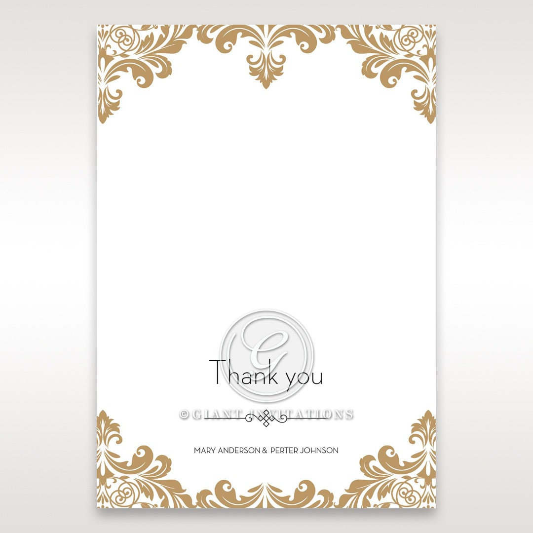 Golden Antique Pocket thank you card DY11090