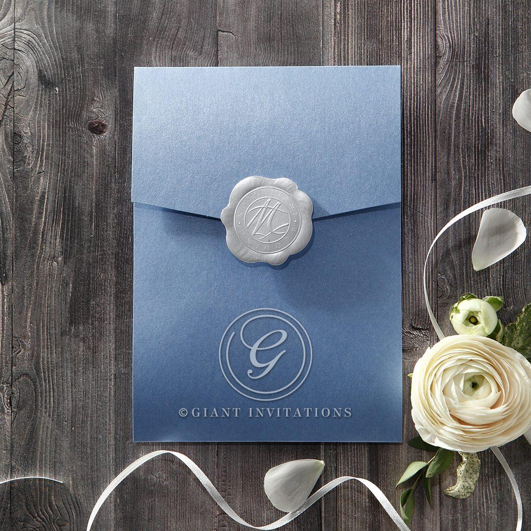 Graceful Wreath Pocket wedding invitations IAB11128