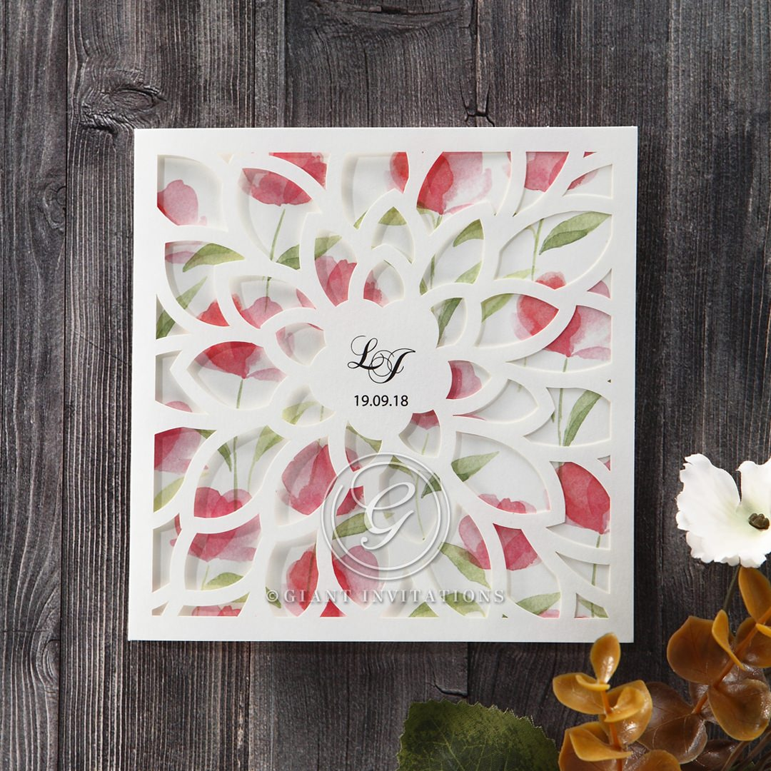 Red Petal Perfection - Wedding invitation - 59