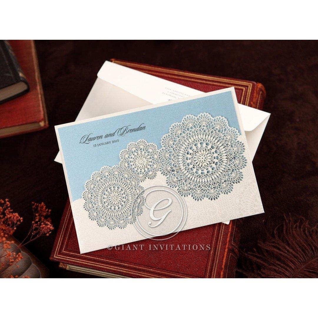 Vintage Handmade Wedding Invitations: Handmade Vintage Lace Floral Personalised Wedding Invitation