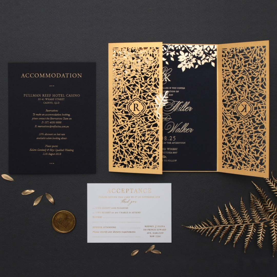 Majestic Botanical Gate - Wedding Invitations - PWI116022-NV-7615 - 183970