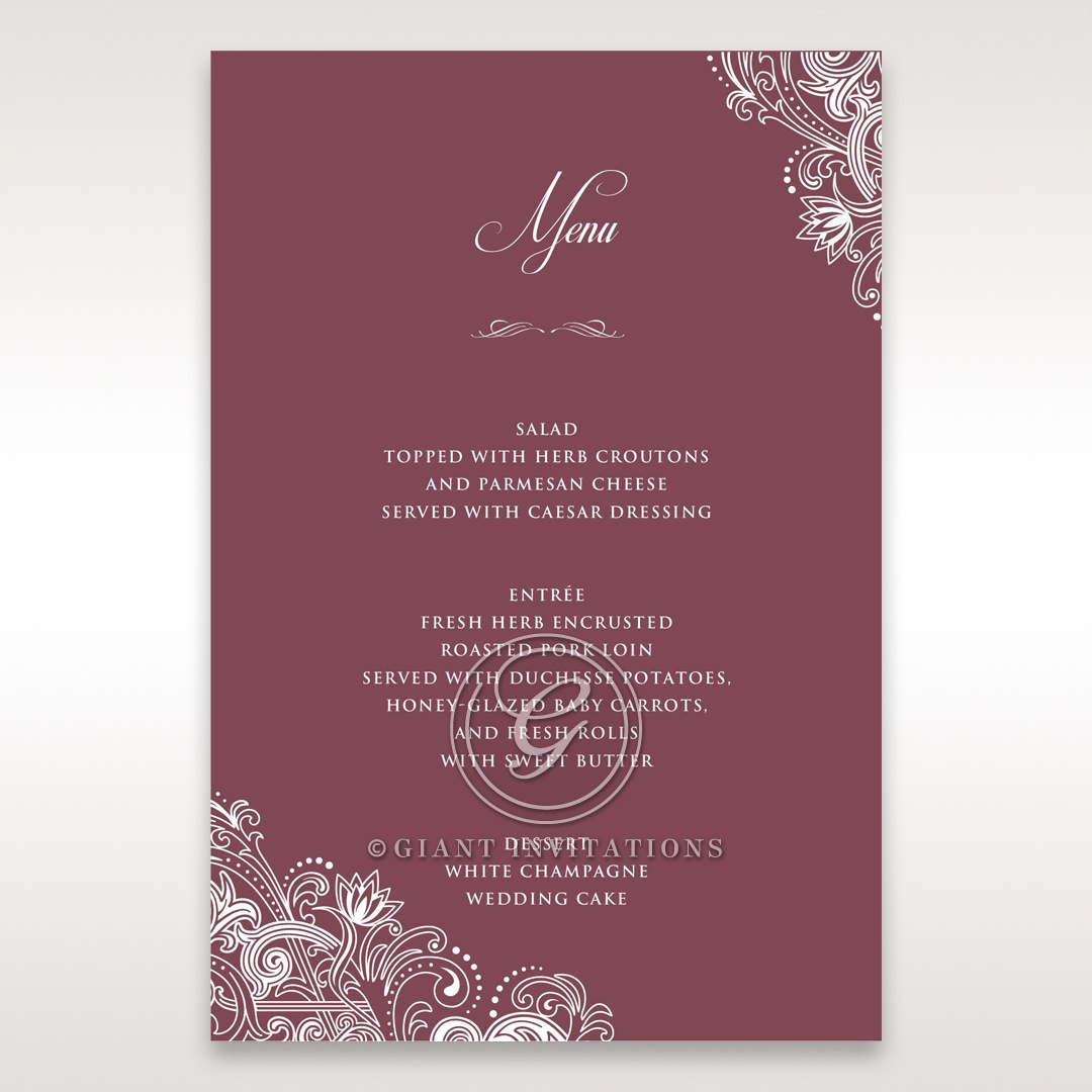 Imperial Glamour without Foil menu card DM116022-MS-D