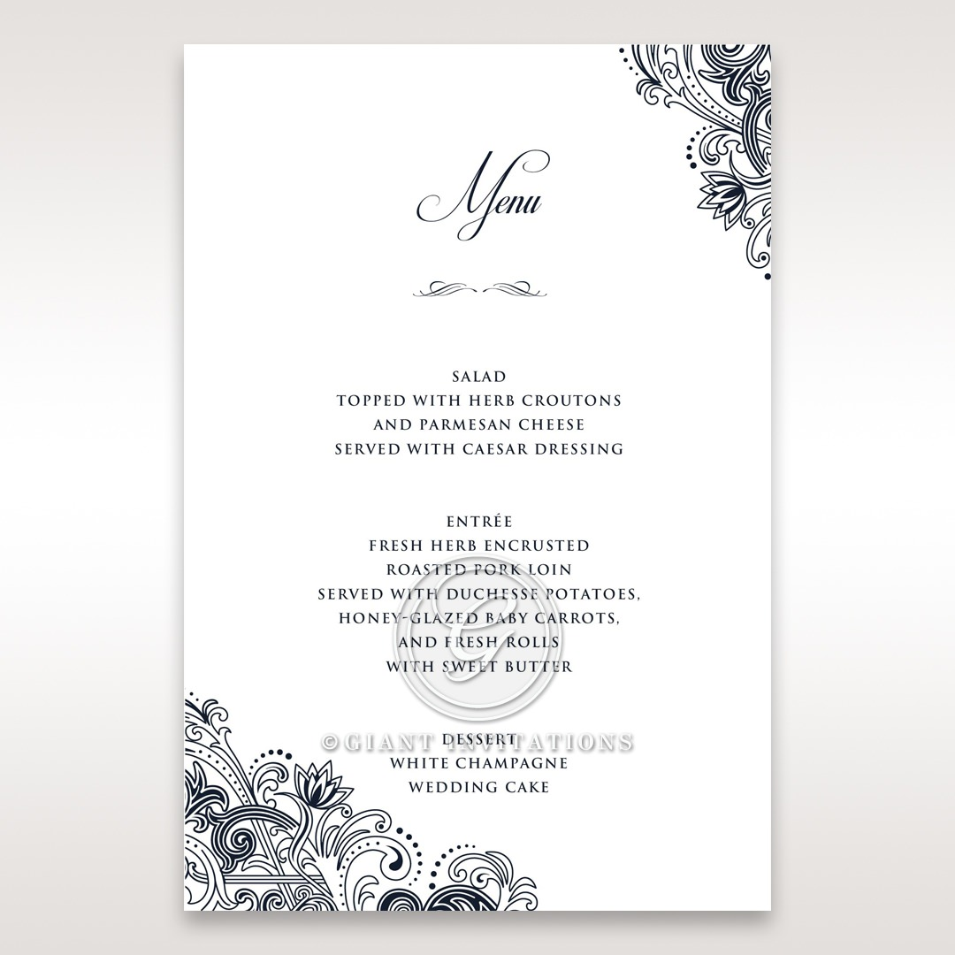 Imperial Glamour without Foil menu card DM116022-NV-D