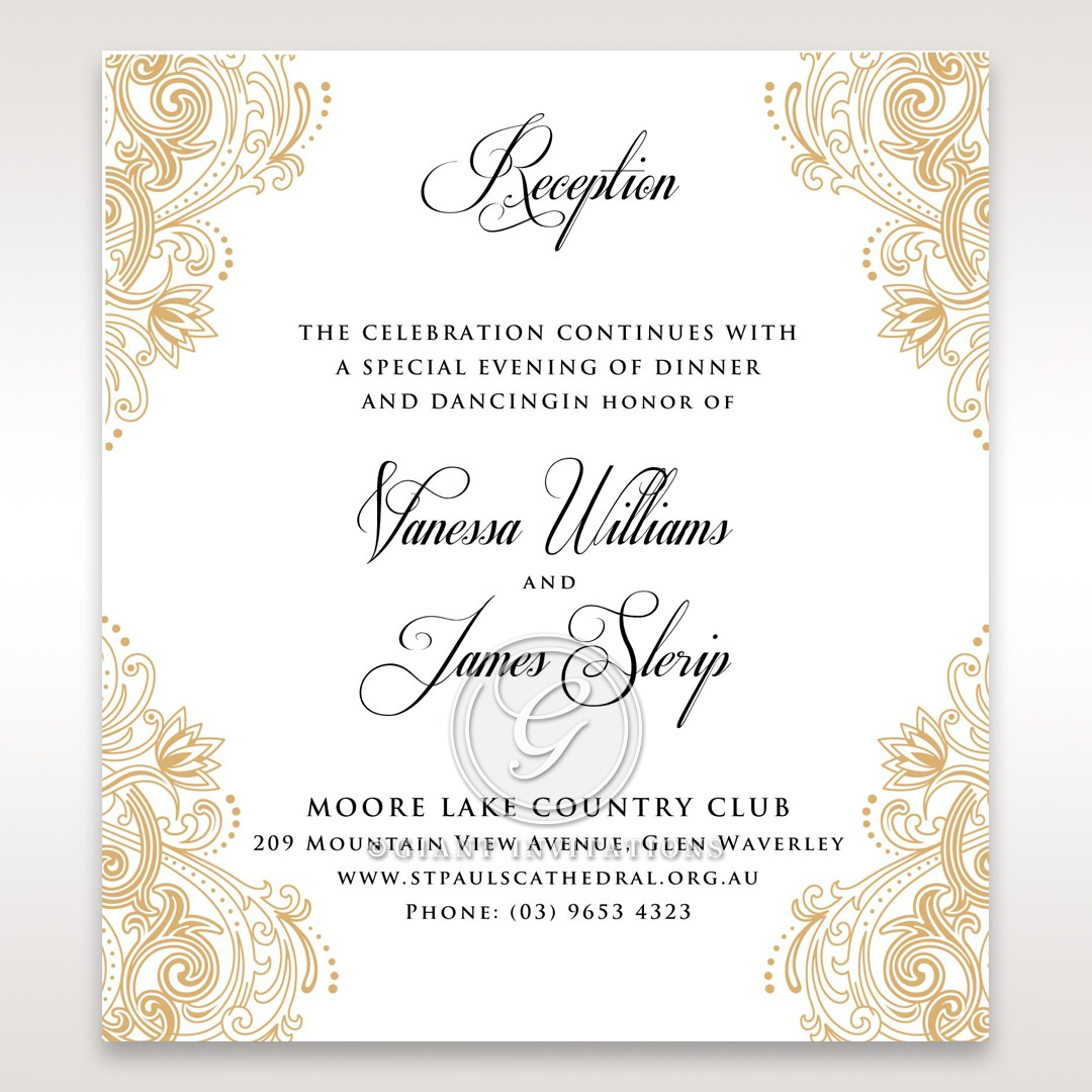 Moroccan Inspired Reception Card