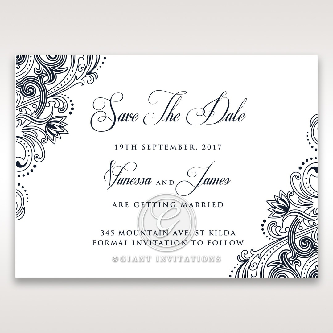 Imperial Glamour without Foil save the date DS116022-NV-D