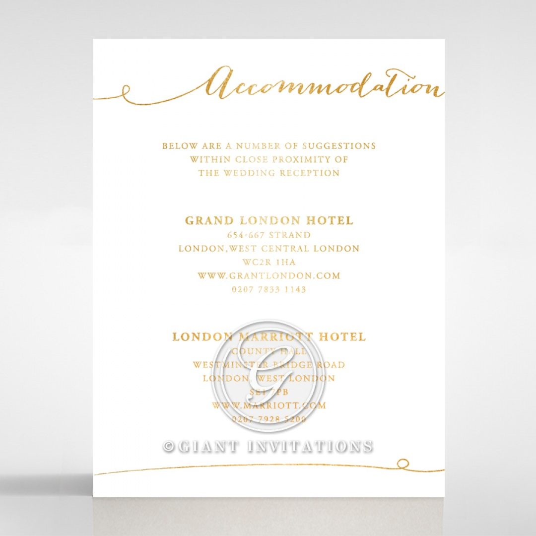 Infinity accommodation card DA116085-GW-GG