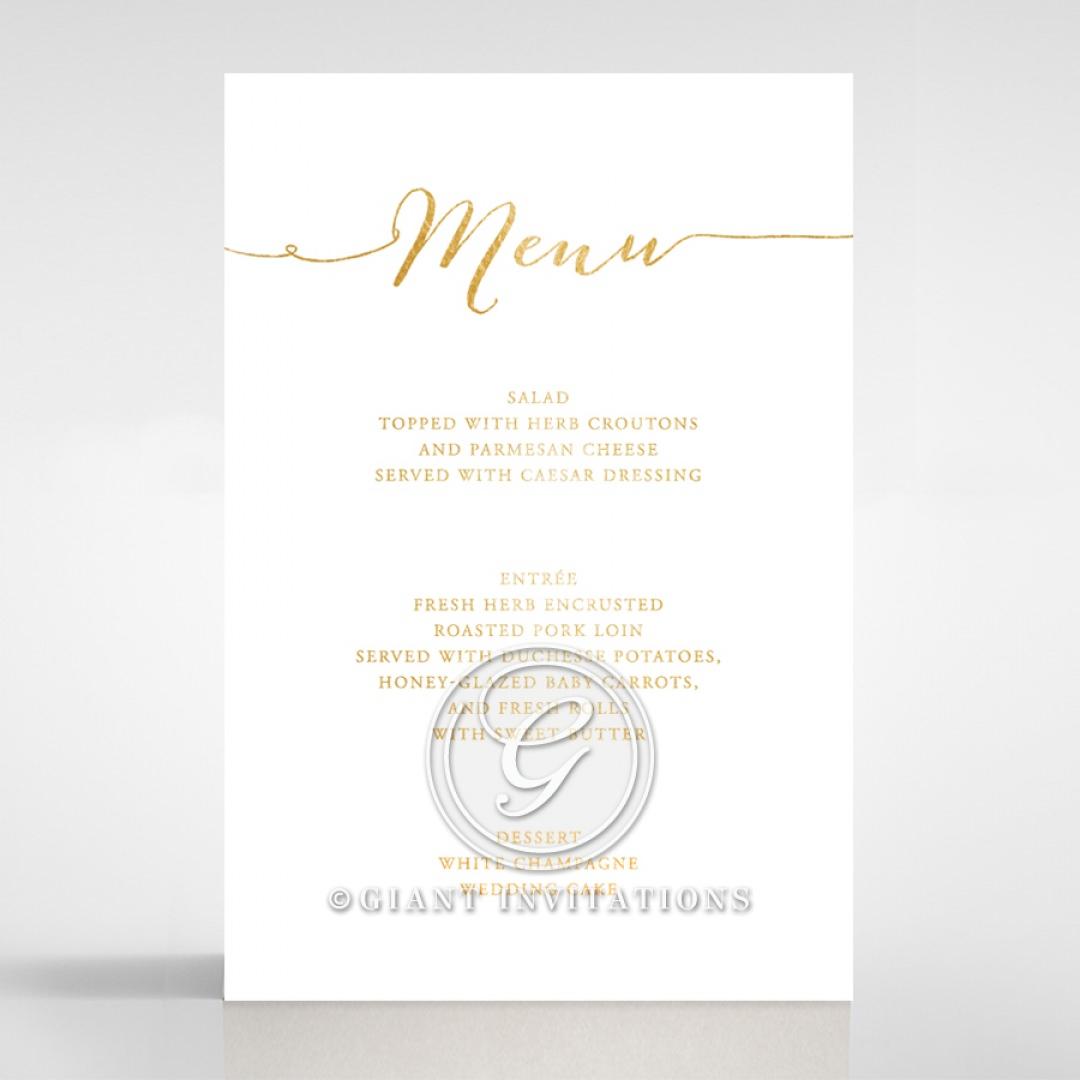 Infinity menu card DM116085-GW-GG
