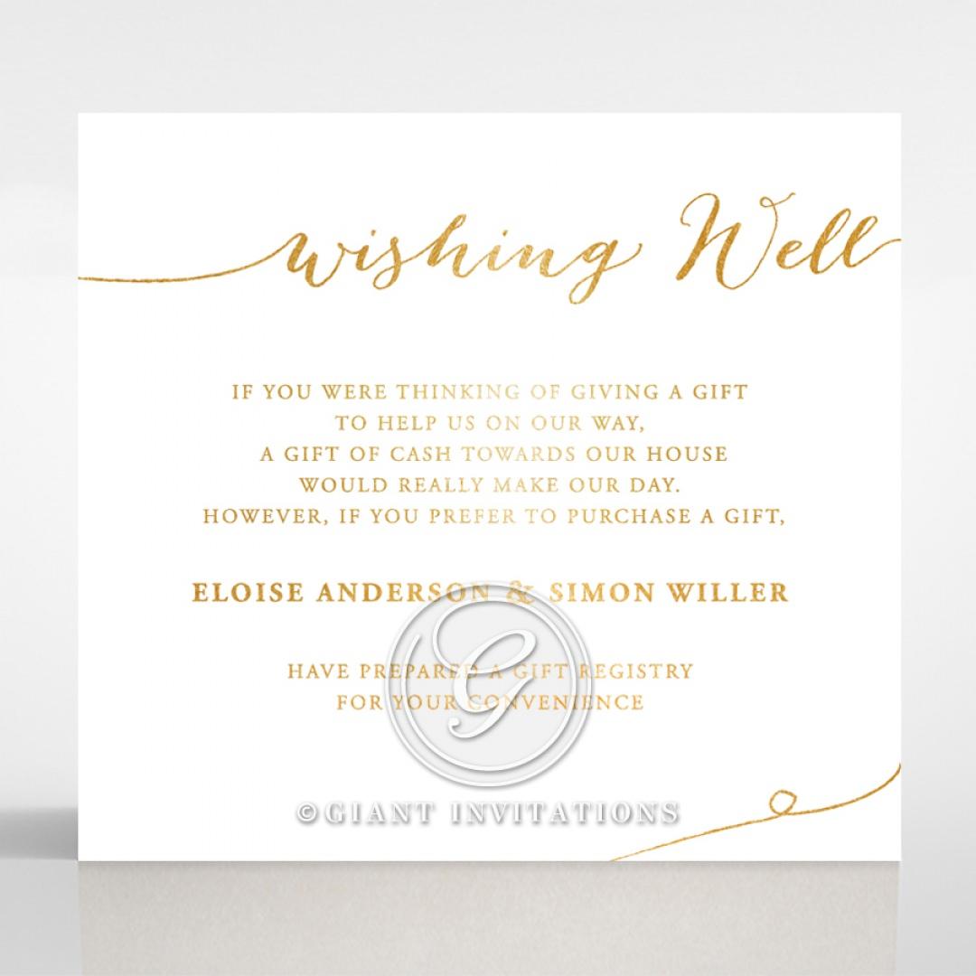 Infinity wishing well card DW116085-GW-GG