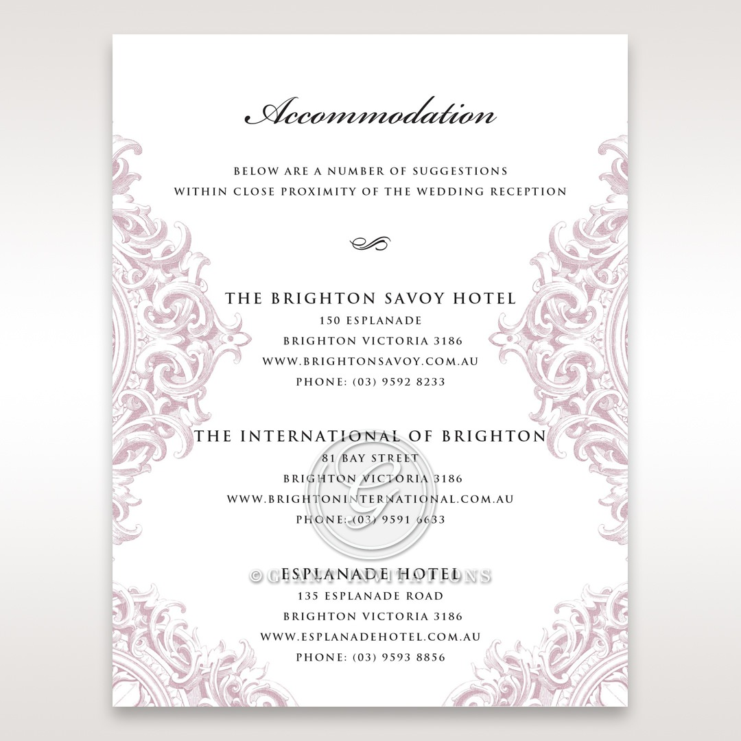 Jewelled Elegance accommodation card DA11591