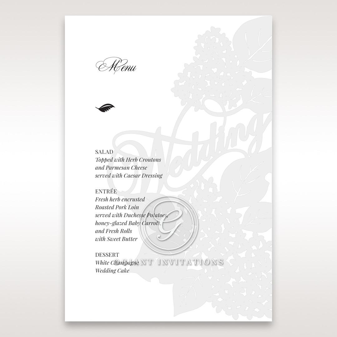 Laser Cut Floral Wedding menu card DM15086