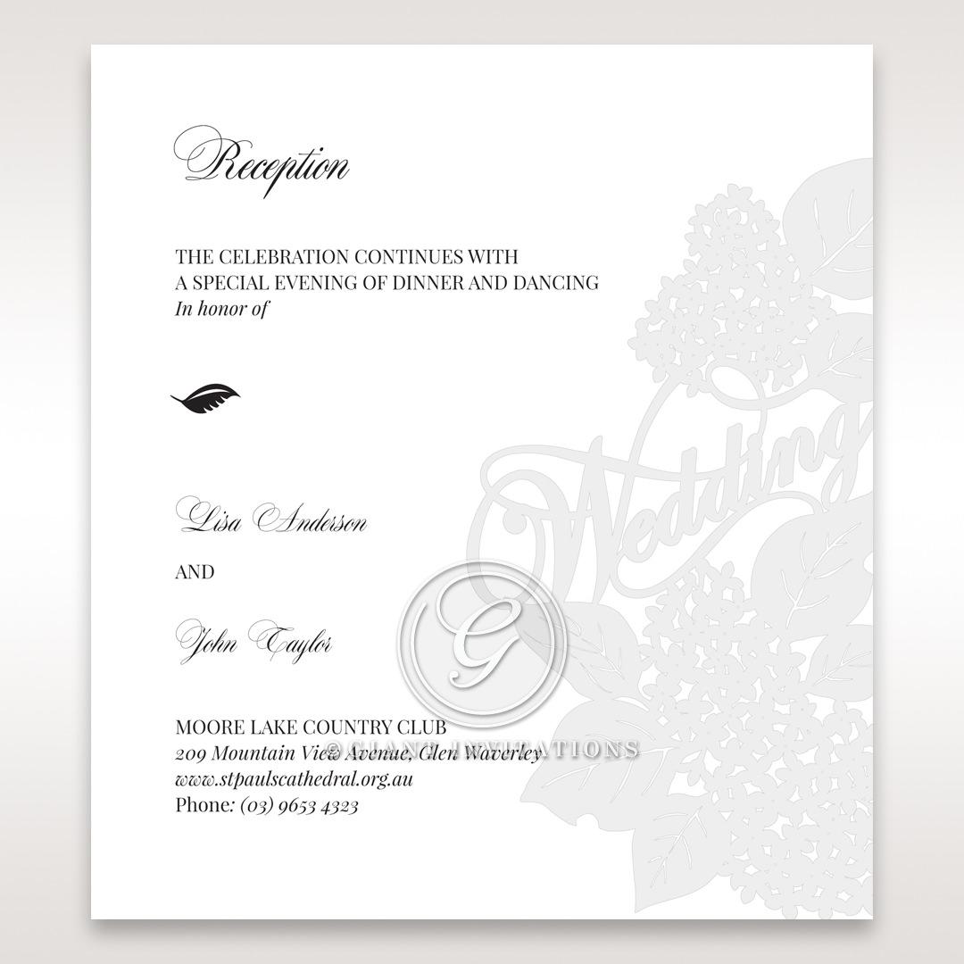 Laser Cut Floral Wedding reception card DC15086