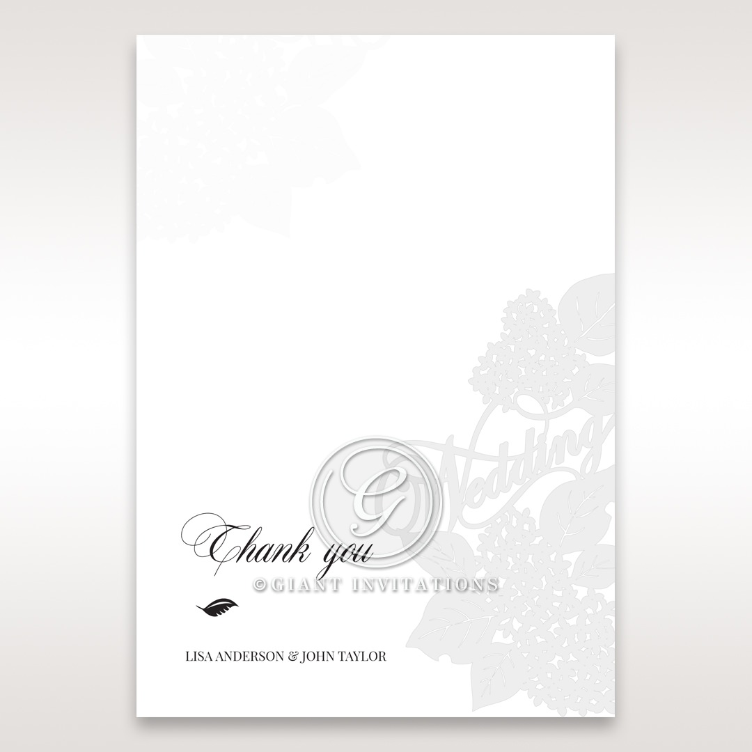 Laser Cut Floral Wedding thank you card DY15086