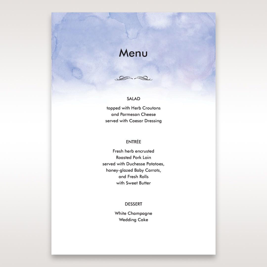 Purple Lasercut pocket with Love Birds - Menu Cards - Wedding Stationery - 61