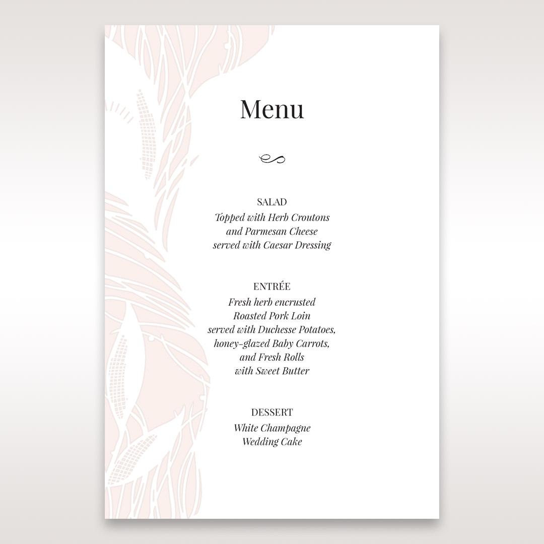 Orange Mystic Forest - Menu Cards - Wedding Stationery - 76