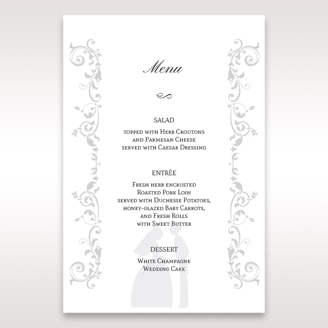 White Promise - Menu Cards - Wedding Stationery - 7
