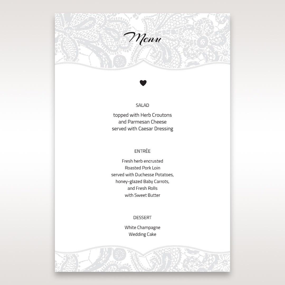 White White Dress - Menu Cards - Wedding Stationery - 30