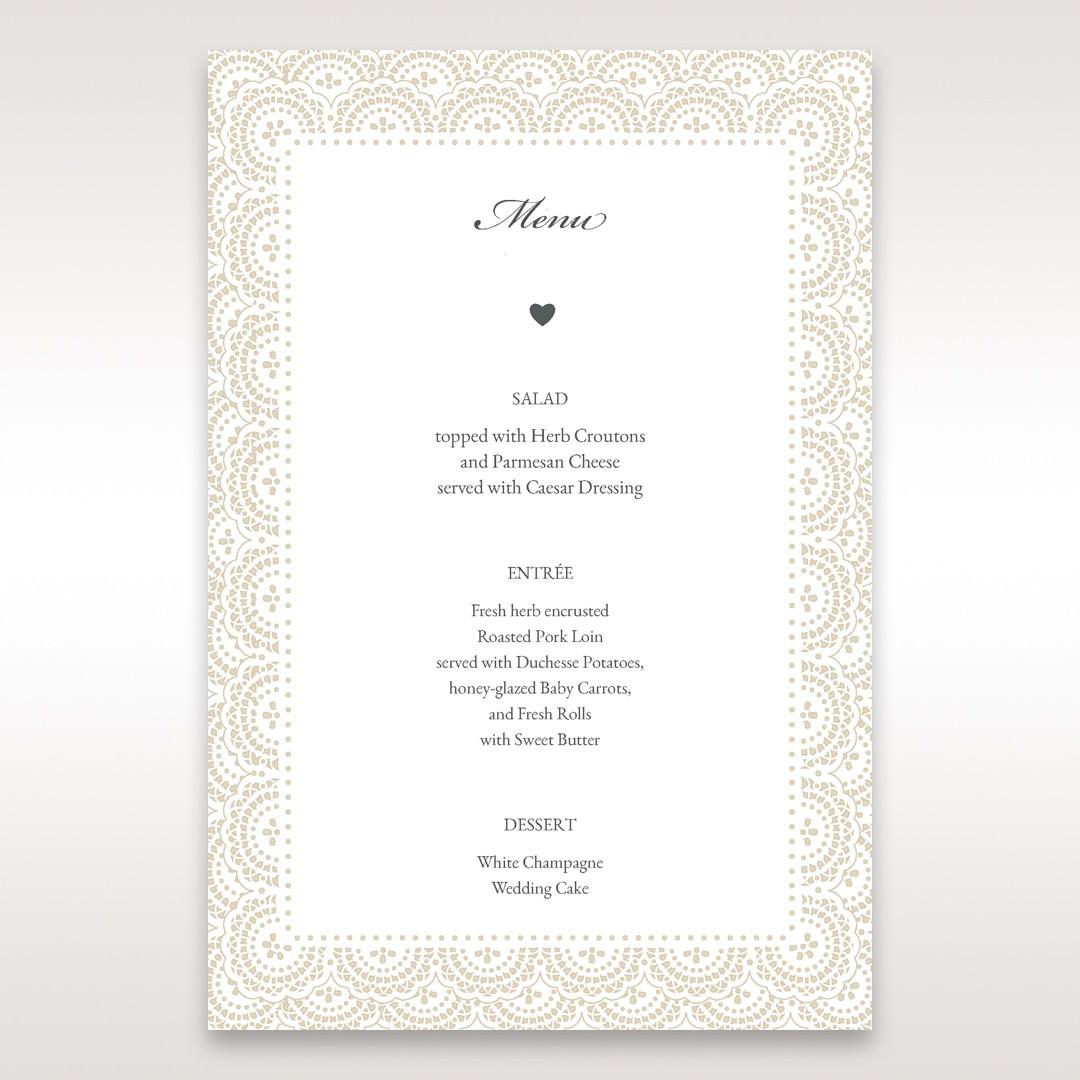 White Amabilis - Menu Cards - Wedding Stationery - 35