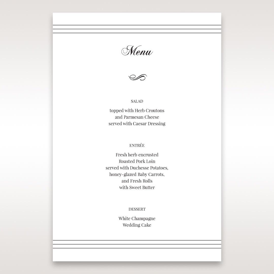 White Modern Pocket-Grey - Menu Cards - Wedding Stationery - 36