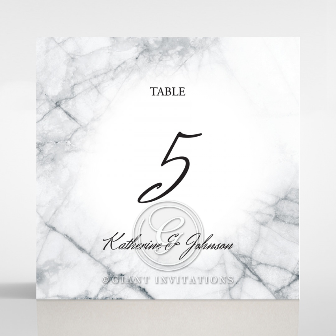 Marble Minimalist table number card DT116115-PK