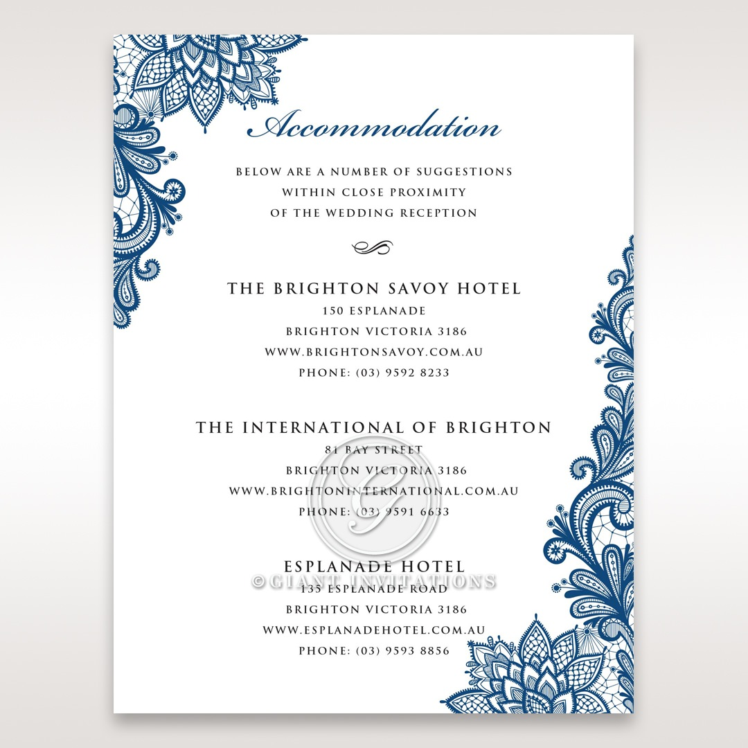 Noble Elegance accommodation card DA11014