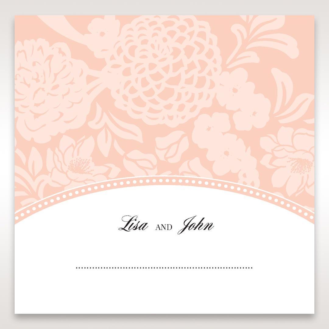 Pink Rustic Garden Laser Cut Pocket - Place Cards - Wedding Stationery - 48