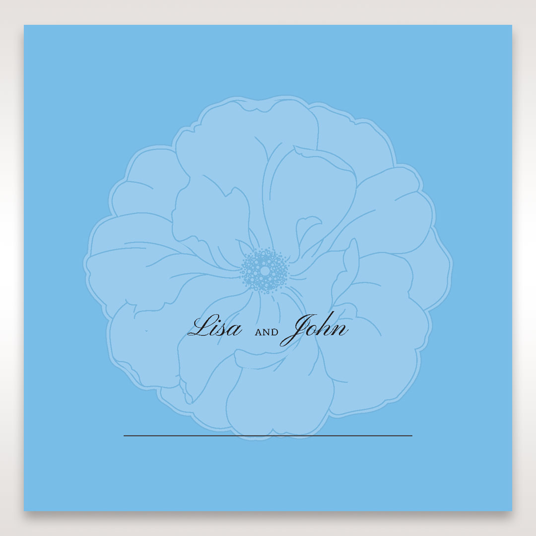 Blue Urban Flower Handcrafted - Place Cards - Wedding Stationery - 33
