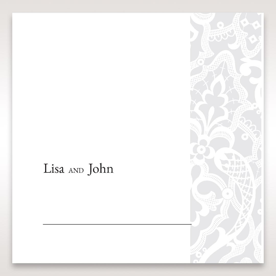 White Elegant Laser Cut - Place Cards - Wedding Stationery - 14