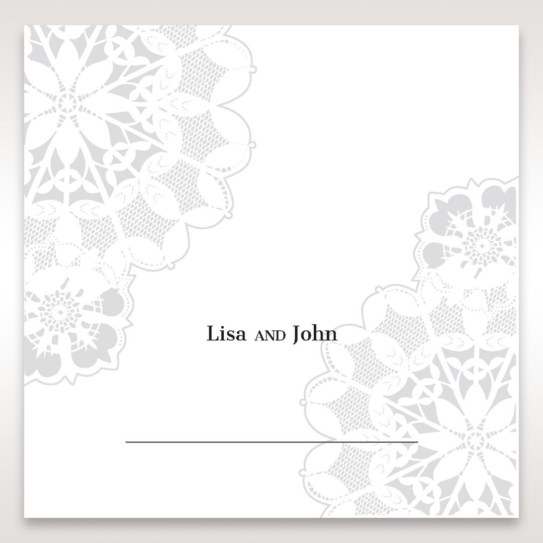 Black Laser Cut Floral Frame - Place Cards - Wedding Stationery - 65