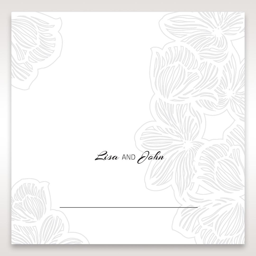 Orange Laser Cut Flower Frame - Place Cards - Wedding Stationery - 30