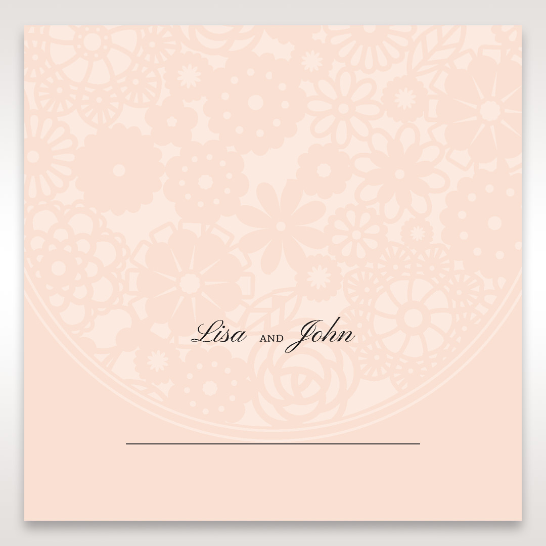 Orange Pink Light Romance - Place Cards - Wedding Stationery - 20