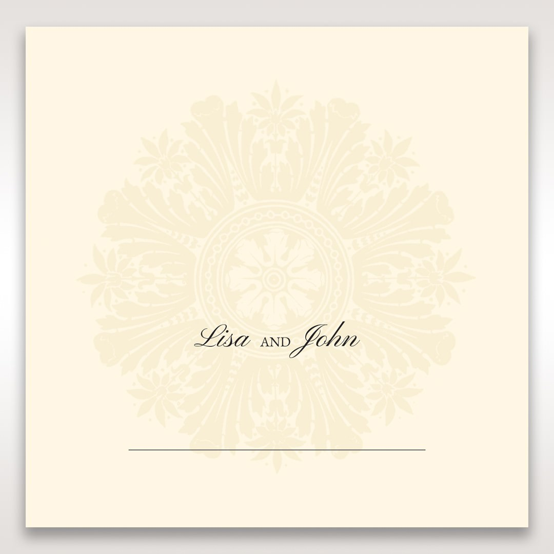 Brown Classic Couture Gold & Brown - Place Cards - Wedding Stationery - 55