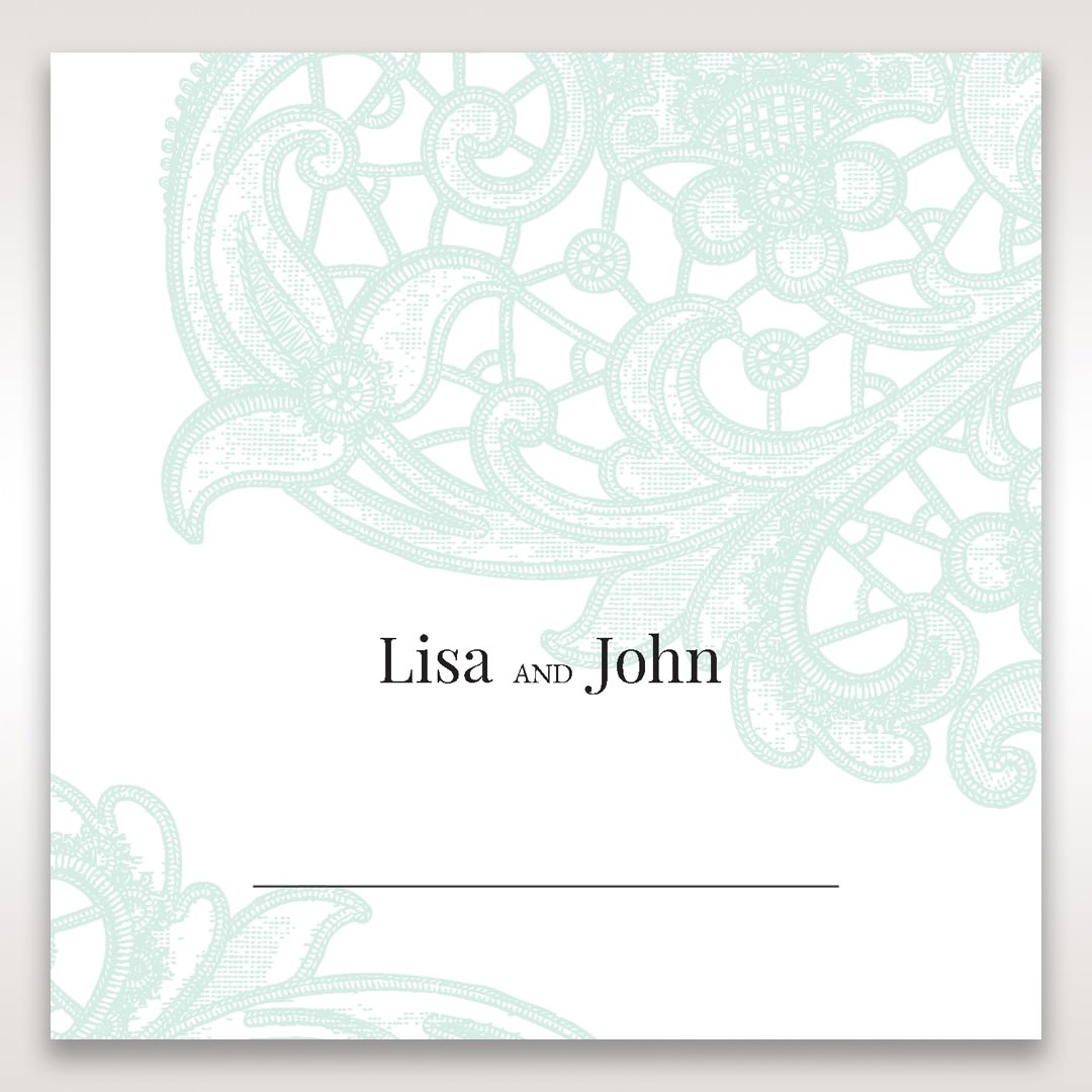Blue Gatefold Floral Laser Cut - Place Cards - Wedding Stationery - 12