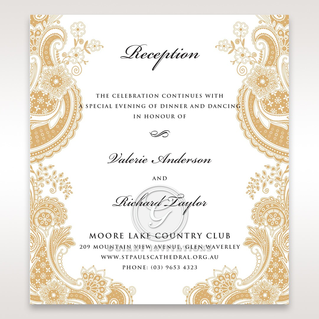Wedding Reception Cards Matching Styles