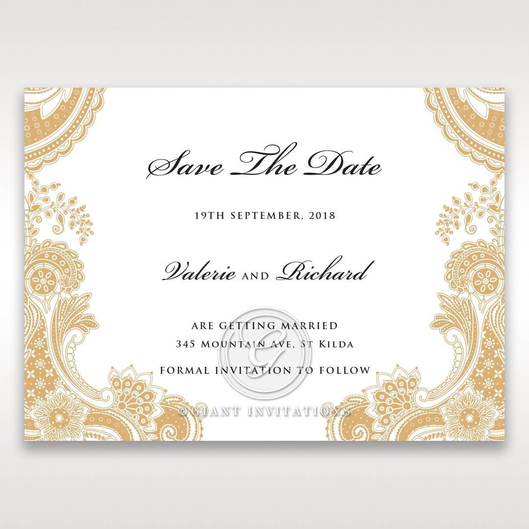 Prosperous Golden Pocket save the date DS11045