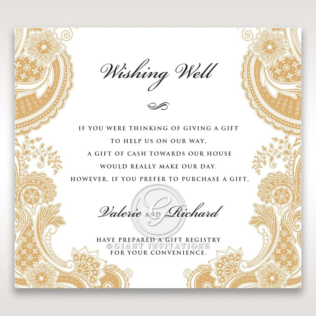 Prosperous Golden Pocket wishing well card DW11045