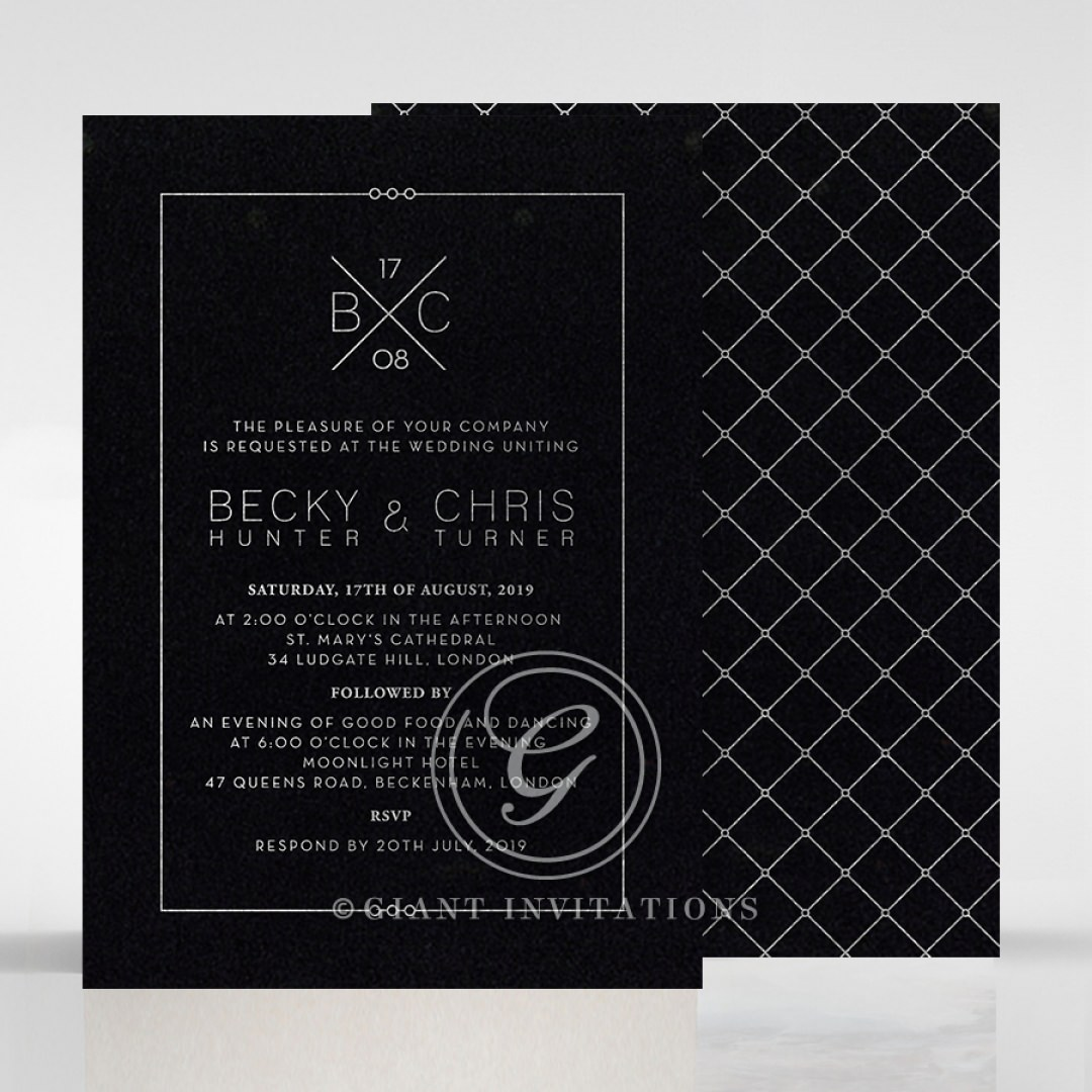 Quilted Grace wedding invitations FWI116095-GK-GS