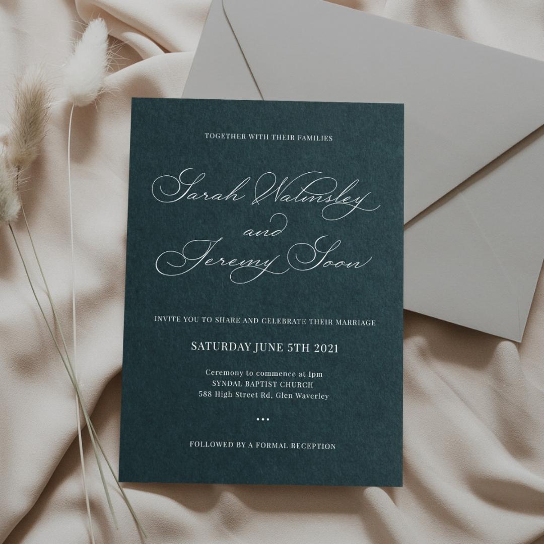 Vintage Elegance - Wedding Invitations - GI-MB300-WH-12 - 184780
