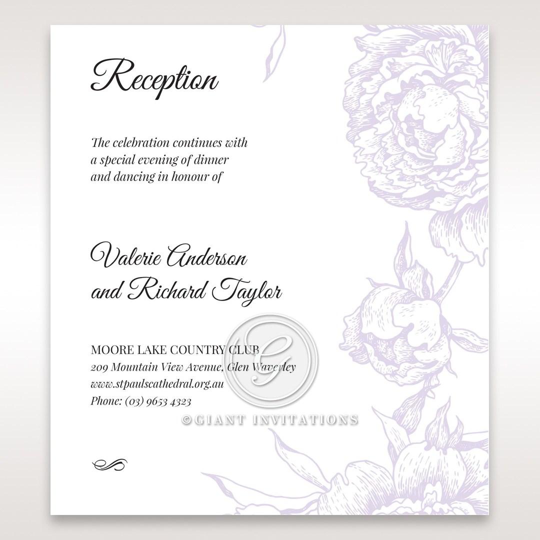 Romantic Rose Pocket reception card DC11049