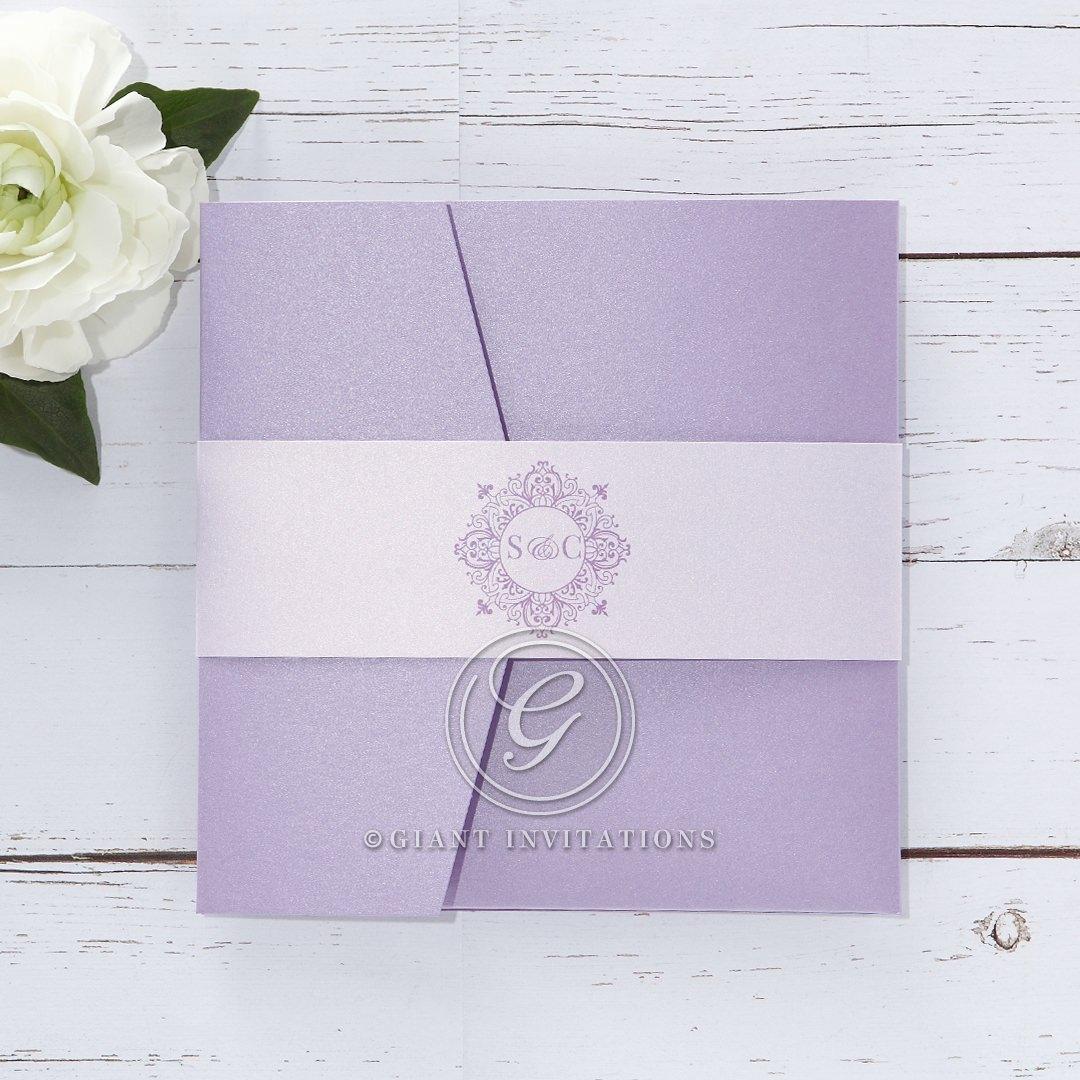 Romantic Rose Pocket wedding invitations IAB11049