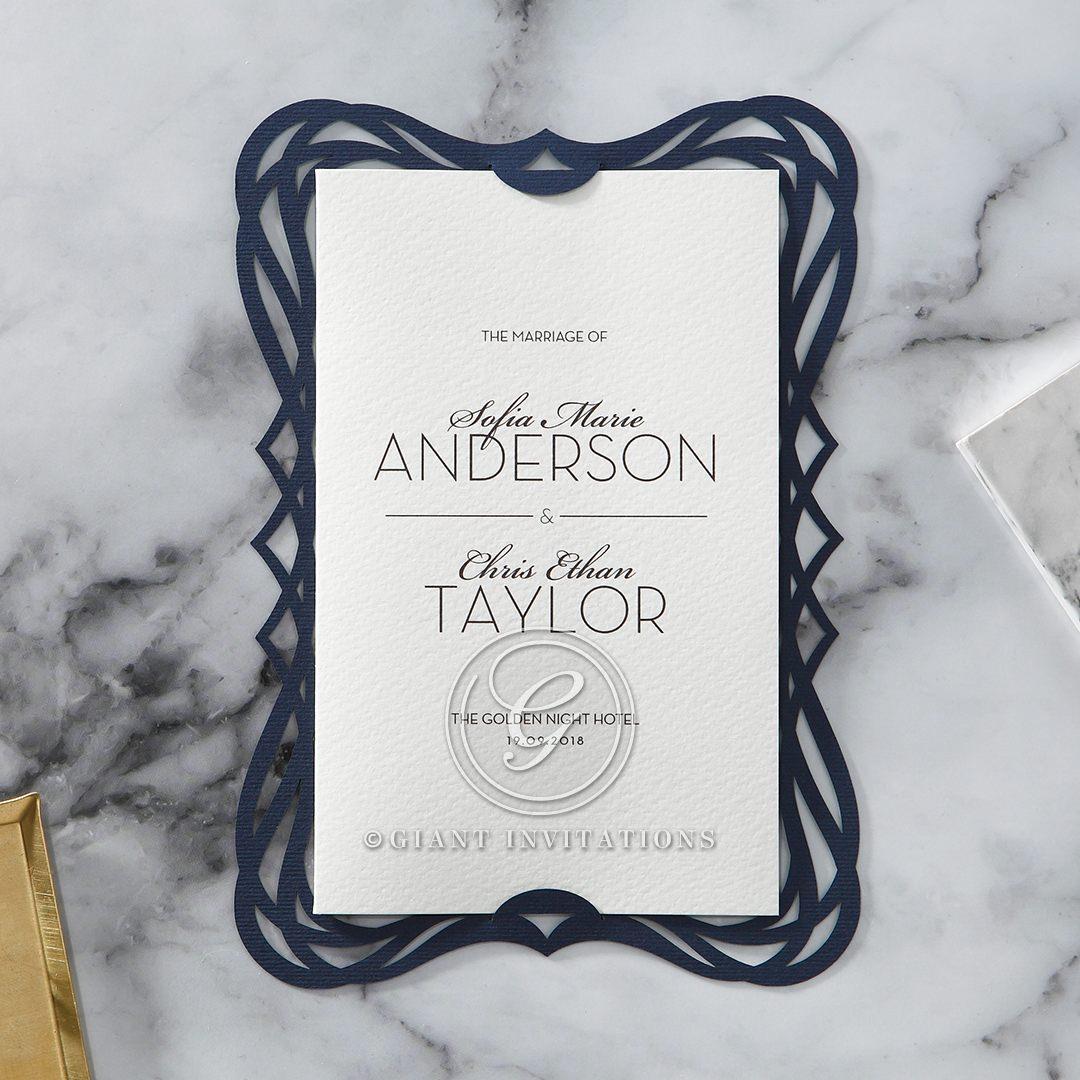 Royal Frame wedding invitations HB15088