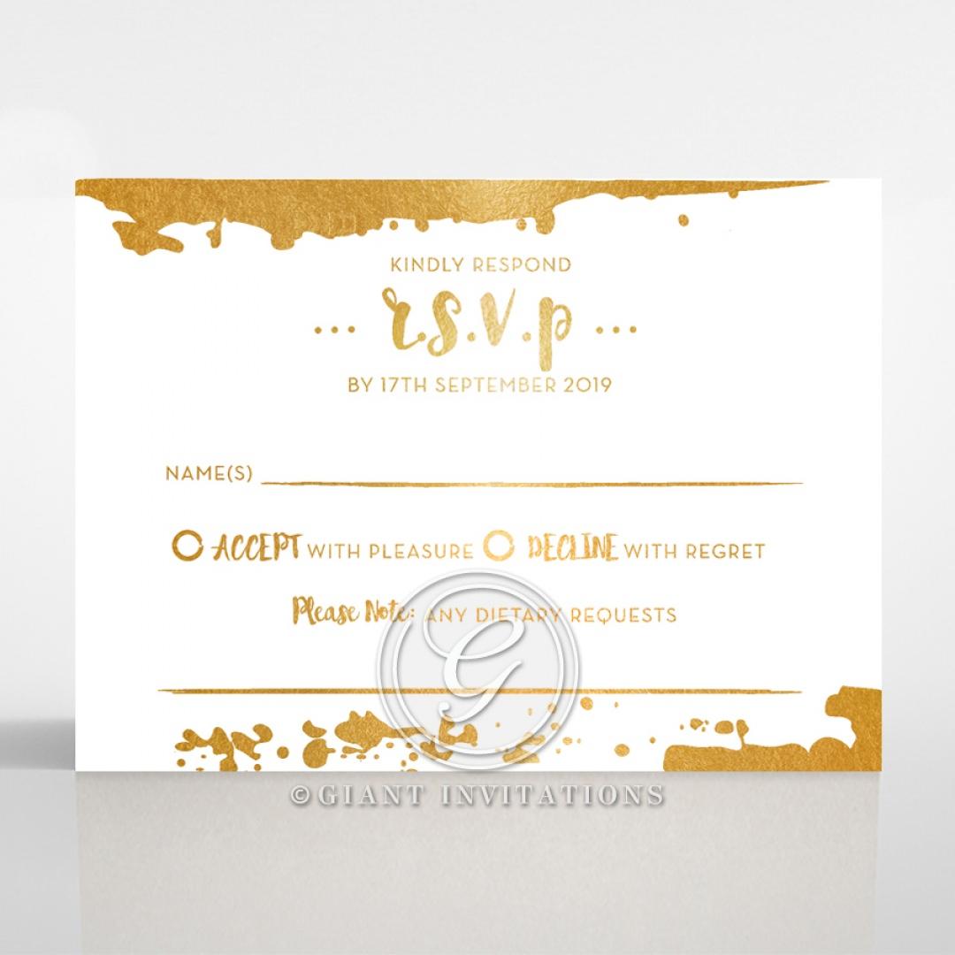 Rusted Charm rsvp card DV116082-GW-GG
