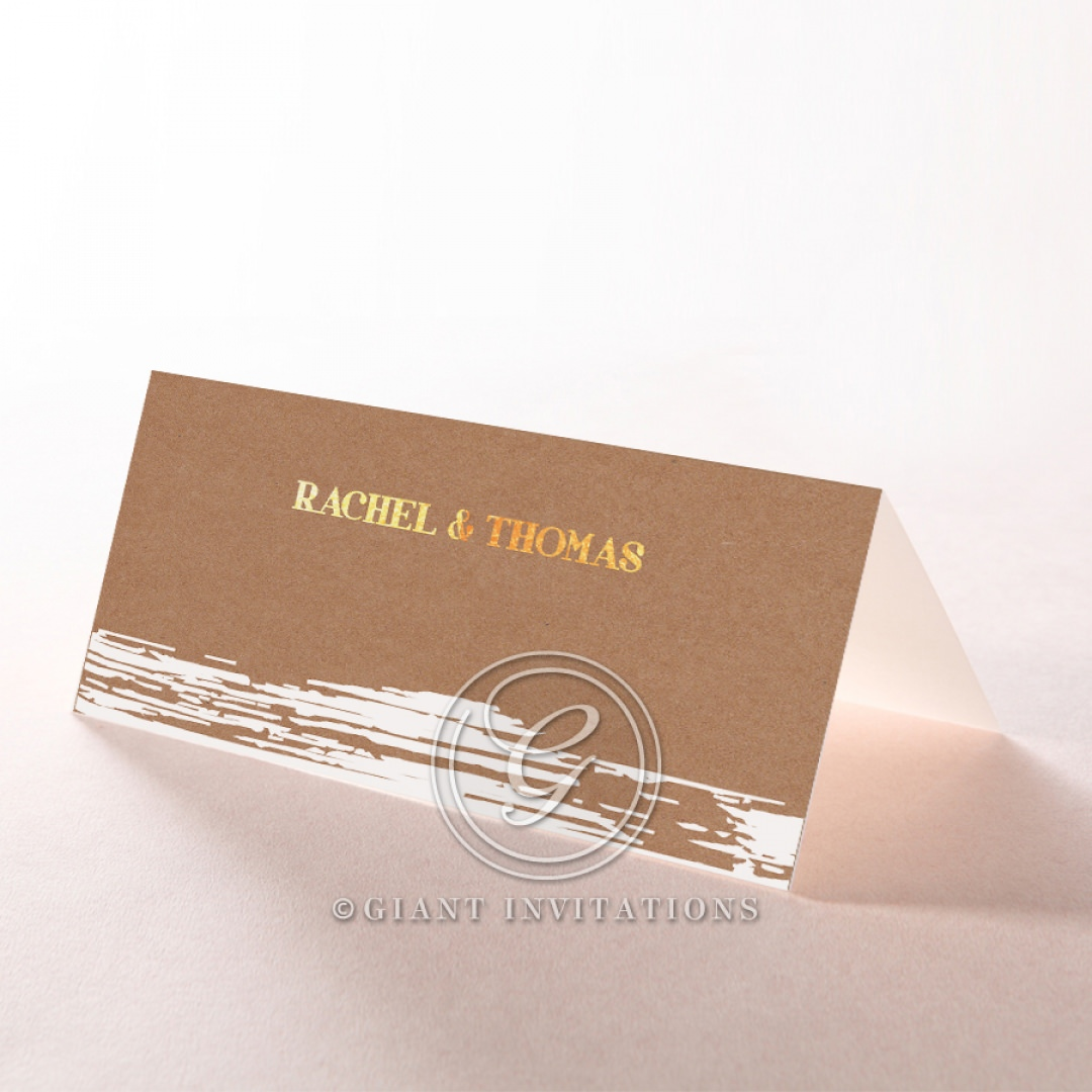 Rustic Brush Stroke with Foil place card DP116091-TR-GG