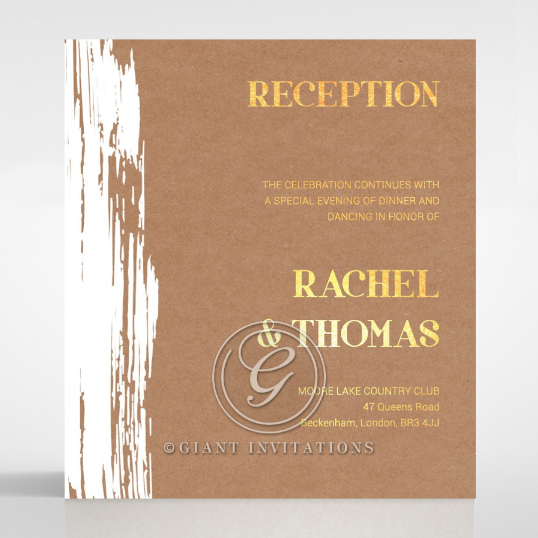 Rustic Brush Stroke with Foil reception card DC116091-TR-GG